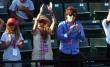 Paulina Rubio y Colate Tennis gradas lentes