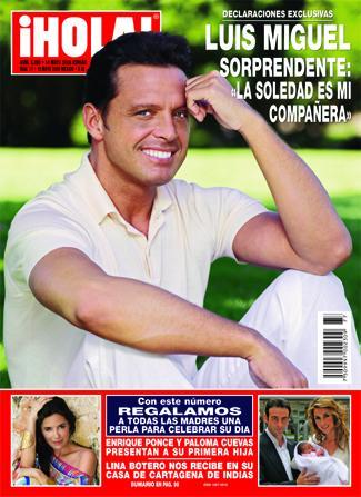 Luis Miguel en revista Hola