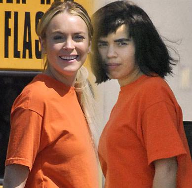 Lindsay Lohan y Betty Ugly