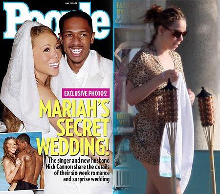 luna de miel de Mariah Carey y en Boda