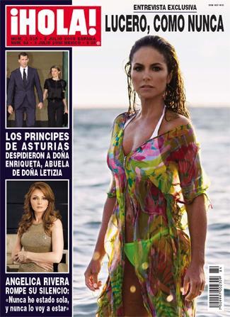Lucero portada en la revista ¡Hola!