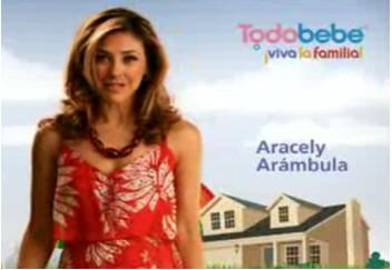 Aracely Arambula en Viva la familia todo bebe