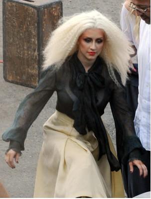 Christina Aguilera con tremendo cabello