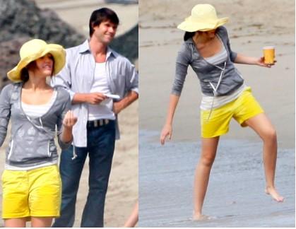 Miley Cyrus en rodaje de Hannah Montana la pelicula