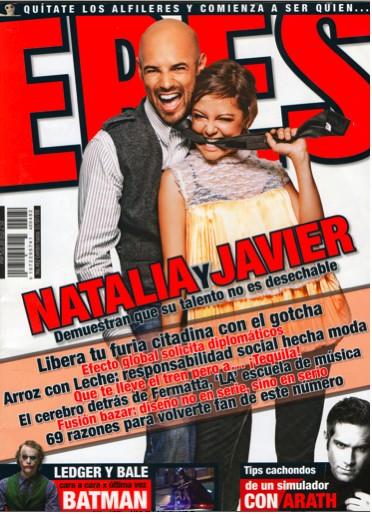 Javier Poza y Natalia Lafourcade en revista Eres