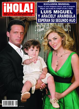 LUIS MIGUEL Y ARACELY ARÁMBULA y su primer hijo Miguelito de año y medio esperan segundo bebe