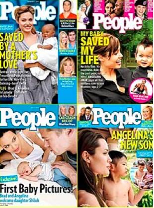 Angelina jolie en Peole con sus hijos