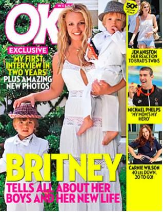 Britney Spears en la portada de la revista ok