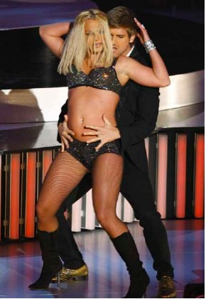 Britney Spears gorda en los MTV