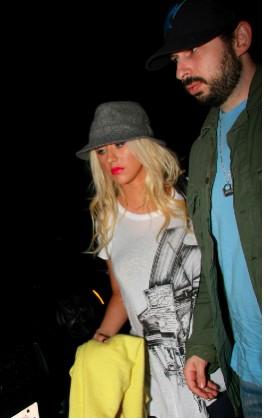 Christina Aguilera y su esposo