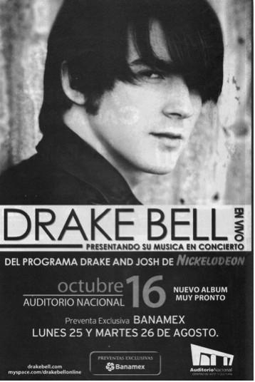 Drake Bell en el Auditorio Nacional de la Ciudad de México