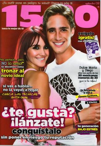 Dulce María y Diego en la Revista 15 a 20
