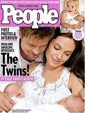 Mellizos de brad y angelina en People