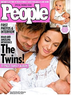 Gemelos de Brad Pitt y Angelina Jolie en People