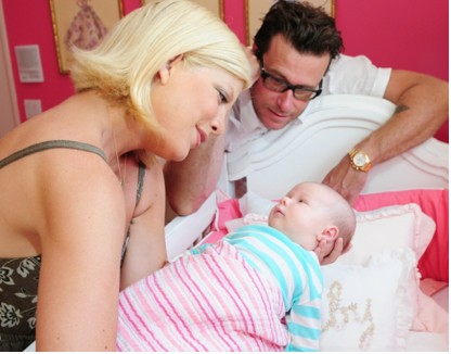 Tori Spelling en familia