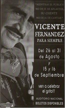 Vicente Fernandez en el Auditorio Nacional