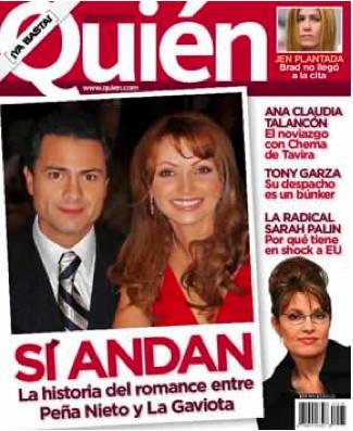 Angelica Rivera y Enrique Peña Nieto en Quien