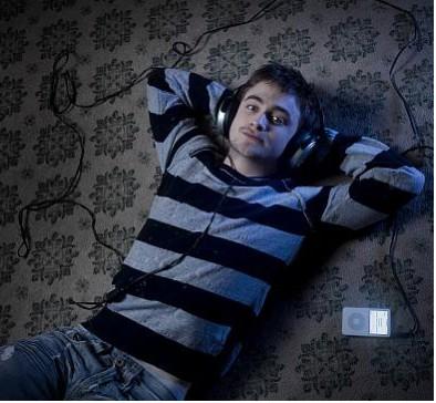 Daniel Radcliffe acostado