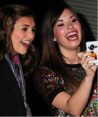 Demi Lovato con fans