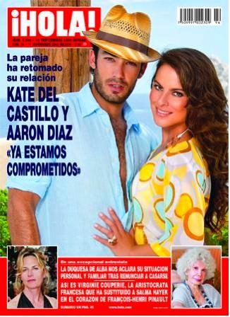Kate del Castillo y aaron diaz en la revista hola