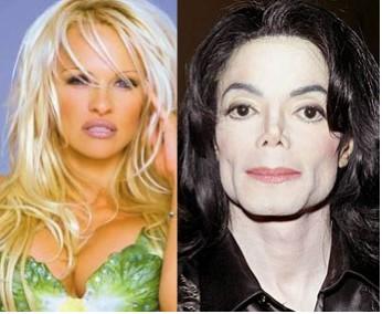 Pamela Anderson y Michael jackson