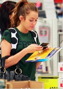 Miley Cyrus compra utiles