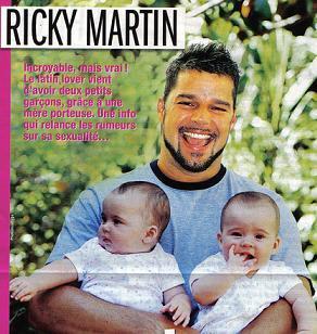 Foto de Ricky Martin y sus gemelos