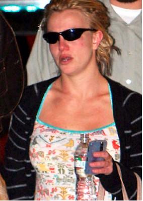 Britney Spears llorando