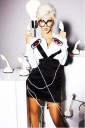Christina Aguilera sexy secretaria