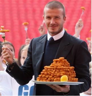 David Beckham vende alimentos congelados