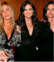 Janifer Aniston, Demi Moore y Courteney Cox