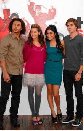 Vanessa Hudgens, Zac Efron, Corbin Bleu y Ashley Tisdale en España