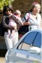Jamie Lynn con su mamá y su bebe