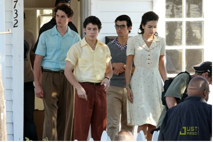 Jonas Brothers grabando Lovebug