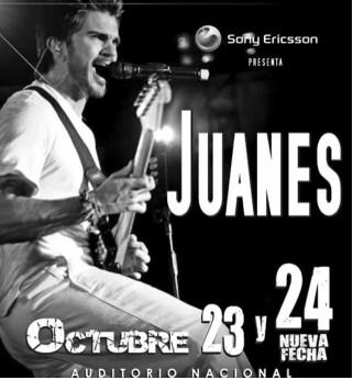 Juanes en el Auditorio Nacional 24 de octubre