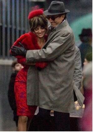 Penelope Cruz y Daniel Day Lewis en la grabación de Nine