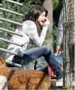 Selena Gomez con su perro