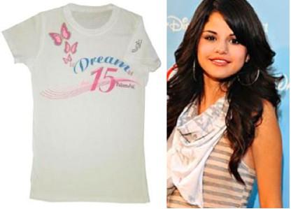 Selena Gomez diseña playera para quinceañeras