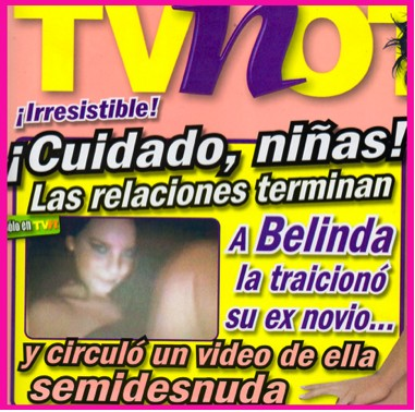 Dan a conocer imágenes de Belinda en topless