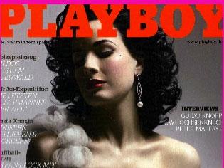 Dita Von Teese ex de Marilyn Manson desnuda en Playboy