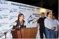 Gloria Trevi con empresarios en Colima
