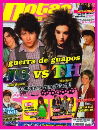 Jonas Brothers contra Tokio Hotel en Notas para ti