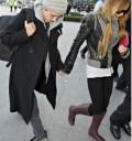 Lindsay Lohan y Samanta Roson de la mano