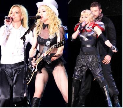 Britney Spears y Justin Timberlake en concierto con Madonna Fotos
