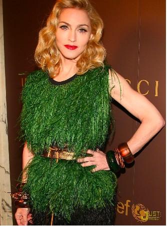 Madonna en la presentación de nueva línea Gucci