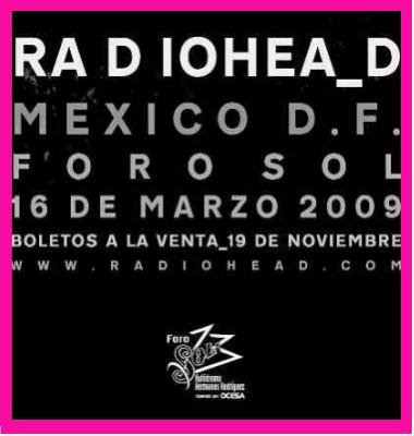 Venta de Boletos para Radiohead en México
