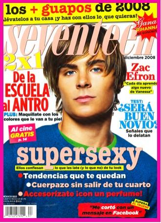 Zac Efron en Revista Seventeen