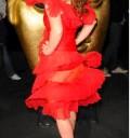 Geri Halliwell con vestido transparente
