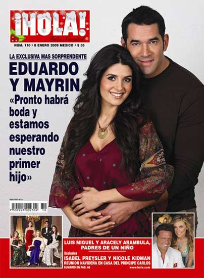 Eduardo Santamarina y Mayrín Villanueva esperan bebé