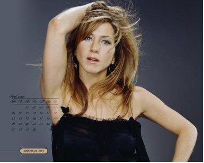 Calendario 2009 de Jennifer Aniston